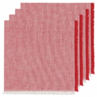 Now Designs Heirloom Chambray Cotton Napkins Chili Red - 4 Pack - 18 x 18 in
