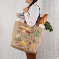 Now Designs Market Tote Jute Grocery Bag Farmers Market 13.5x17x8.5 inch - 1 ct