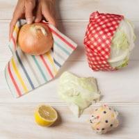 3Pcs Reusable Food Wraps Natural Beeswax (3 Sizes) by Ecologie -Gghm&Dot&Stripe - 3 pk
