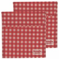 Ecologie Reusable Natural Beeswax Red Food Sandwich Wraps - 2 Pack - 6.5 in