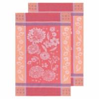Now Designs Jacquard Woven Cotton Kitchen Dish Towels Cottage Floral Set of 2 - Set of 2