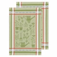 Now Designs Jacquard 100% Woven Cotton Kitchen Dish Towels Garden Set of 2 - Set of 2