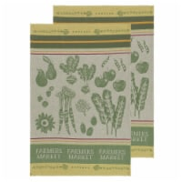 Now Designs Jacquard Woven Cotton Kitchen Dish Towels Farmers Market Set of 2 - Set of 2