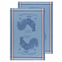 Now Designs Jacquard Woven Cotton Kitchen Dish Towels Rooster Francaise Set of 2 - Set of 2