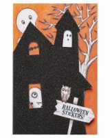 American Greetings Halloween Card with Stickers (Haunted House) - 1 ct