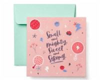 American Greetings Baby Girl Congratulations Card (Small and Mighty) - 1 ct