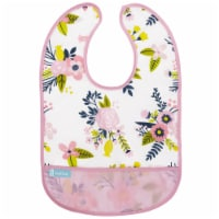 Cleanbib WP Bib 6-12M Pnk Gdn Flowers