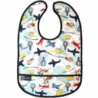 CleanBib WP Bib White Airplane 6-12m