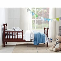 Baby Relax Sleigh Wood Toddler Bed with Safety Rails, Cherry - 28.87 x 56.50 x 28.25