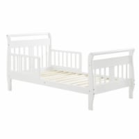 Baby Relax Sleigh Toddler Bed with Safety Rails, White - 28.87 x 56.50 x 28.25