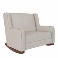Baby Relax Hadley Double Rocker Chair, Baby Nursery Furniture, Beige - 36.50 x 40.50 x 36.50