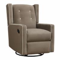 Baby Relax Mikayla Swivel Glider Recliner Chair, Nursery Room, Mocha