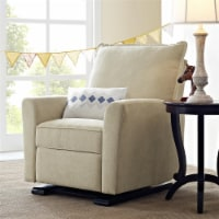 Baby Relax Raleigh Glider Recliner Chair, Living Room Furniture, Beige