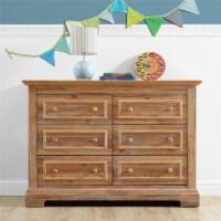 Baby Relax Macy 6-Drawer Wood Dresser, Nursery Furniture, Natural