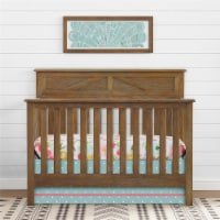 Baby Relax Hathaway 5-in-1 Convertible Wood Crib, Rustic Coffee - 30.25 x 56.00 x 45.50