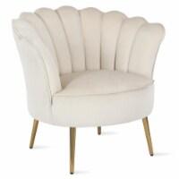 Novogratz Presley Modern Glam Seashell Accent Chair in Cream - 1