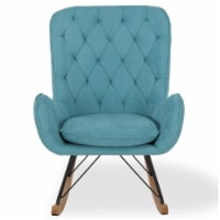 Baby Relax Noah Rocker Chair with Side Storage Pockets, Blue - 29.00 x 36.63 x 40.00