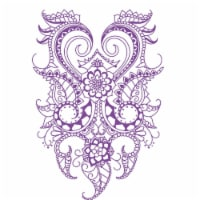 Roylco 1540722 7 x 10 in. Henna Designs Rubbing Plates, Set of 6 - 6