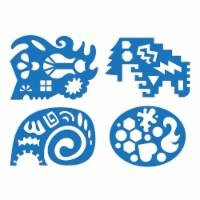 Roylco R-58632 Unruly Rulers Stencils, Blue