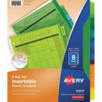 Avery Binder Divider,Insertable, Multicolor  7278211901 - 1