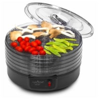 NutriChef PKFD14BK Kitchen Countertop 5 Tray Electric Food Dehydrator Machine - 1 Piece