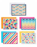 American Greetings Bright Pattern Cards with Colored Envelopes