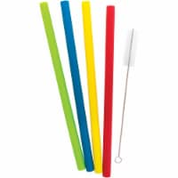 Starfrit Reusable Silicone Straws - Pack of 4