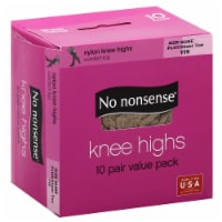 No Nonsense Knee Highs Socks - Nylon - Nude