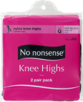 No Nonsense Knee High Stockings - 2 pk - Off Black