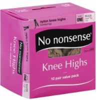 No Nonsense Knee High Stockings - 10 pk - Nude