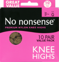 No Nonsense Knee High Stockings - 10 pk - Tan - Q