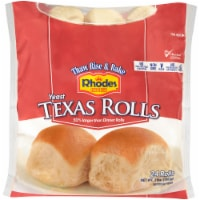 Rhodes White Texas Dinner Roll 24 Count