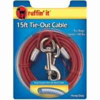 RuffiN It 780230 15ft. Hd Cable Tie-Out Red - 1