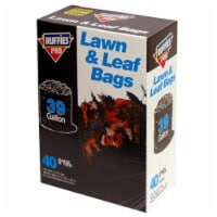 Ruffies Pro 39 gal. Lawn & Leaf Bags Wing Ties 40 pk - Case Of: 6; Each Pack Qty: 40