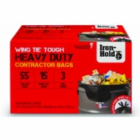 Iron-Hold 55 gal. Contractor Bags Wing Ties 15 pk - Case Of: 4; Each Pack Qty: 15; Total - Case of: 4