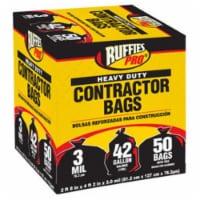 Berry Plastics 1190274 50 Pack, 42 Gallon, Black Contractor Bag