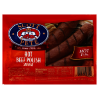 Scott Pete Hot Beef Polish Sausage