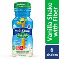 PediaSure Grow & Gain with Fiber Vanilla Ready-to-Drink Kids' Nutritional Shake 6 Bottles