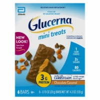 Glucerna Mini Treats Chocolate Caramel Bars Snack Bars 6 Count