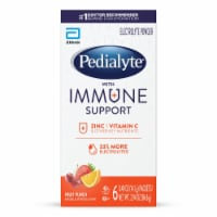 Pedialyte Fruit Punch Immune Support Electrolyte Powder - 6 ct