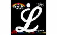 """Joy Applique Letter Iron On Script Dye 1.5"""" Wht L - 1"""