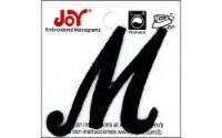 Joy Applique Letter Iron On Script 1.5  Black M - 1