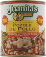 Juanita's Pozole De Pollo Chicken & Hominy  with Red Chilies Soup