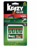 Krazy Glue Fine Tip All Purpose Singles Super Glue 4 Pack