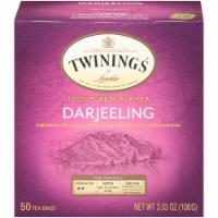 Twinings Of London Darjeeling Pure Black Tea Bags 50 Count
