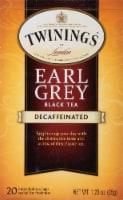 Twinings Of London Decaffeinated Earl Gray Black Tea Bags