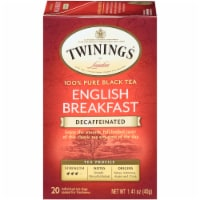 Twinings of London Decaffeinated English Breakfast Black Tea Bags 20 Count