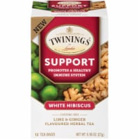 Twinings of London Support White Hibiscus Tea - 18 ct