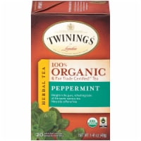 Twinings Of London Organic Peppermint Herbal Tea Bags
