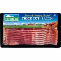 Farmland Naturally Hickory Smoked Thick Cut Bacon - 12 oz